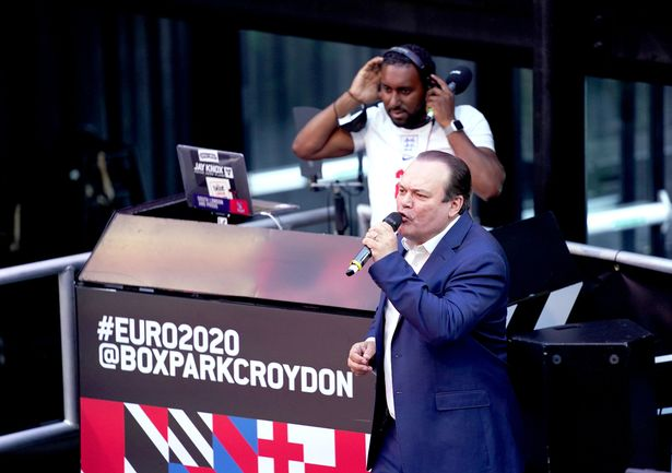 Shaun Williamson at BOXPARK in Croydon ahead of the Euro 2020 semi final match between England and Denmark.