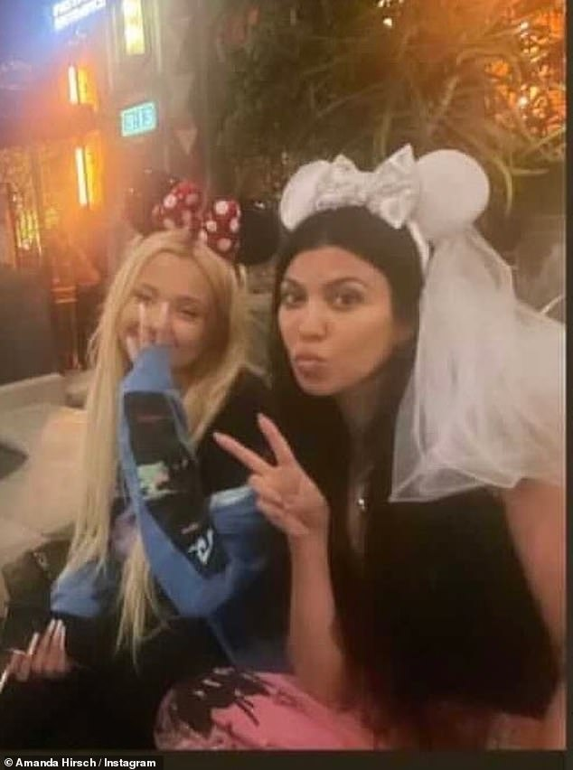 Bride to be?Kourtney continued to spark engagement rumors as she was seen wearing a set of Minnie Mouse ears with a bridal veil attached in a photo posted to the NotSkinnyButNotFat instagram account over the weekend