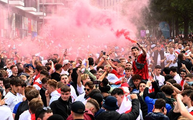 The smoking atmosphere at Wembley