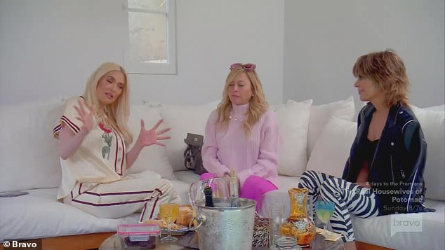 New life:The one-hour show also showed Erika Girardi, 49, living a down-sized life after filing for divorce from lawyer Tom Girardi, 82