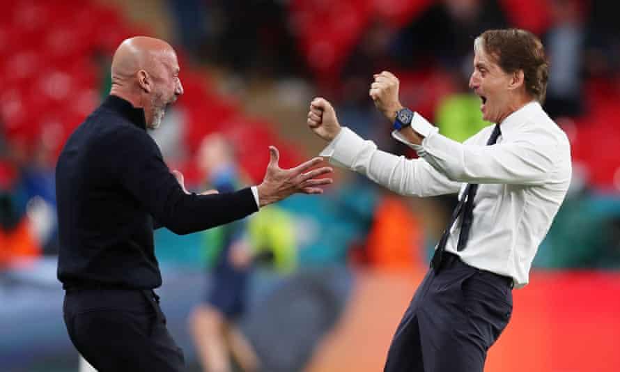 Vialli and Mancini at Euro 2020.