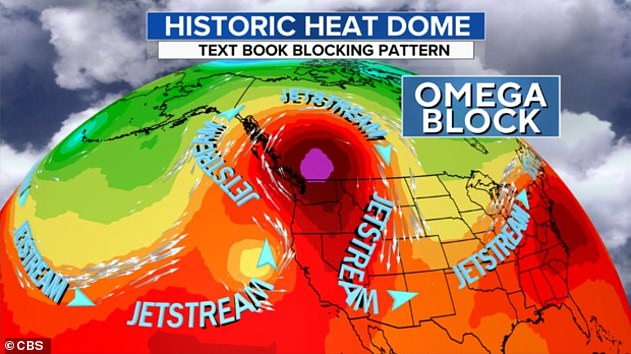 The wild temperatures are stretching from the US west coast up to Canada where records have now been broken for three days in a row