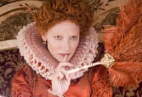 Cate Blanchett as Queen Elizabeth I in Elizabeth.