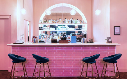 The Lucky Club, Mayfair offers cocktails and a big screen