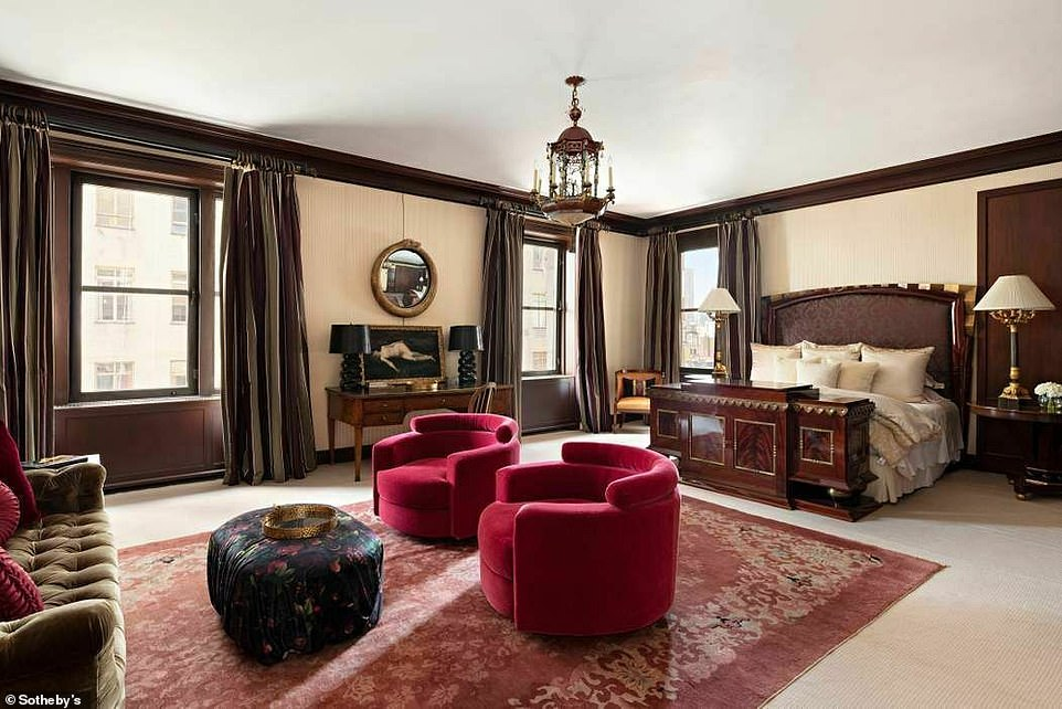 Dreamy: The primary suite includes a massive bedroom, sitting area, en suite marble bath and two sizable dressing rooms