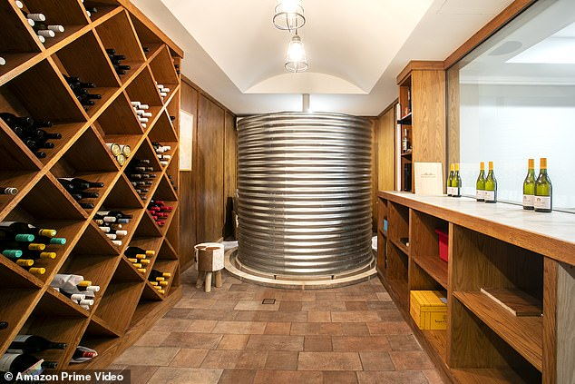 Wine not? Many of the homes feature extravagant details like this opulent wine cellar