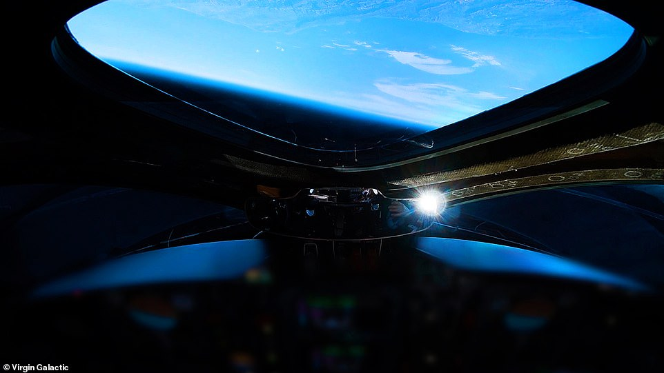 The crew will test all aspects of the astronaut experience, including the view of the Earth from the windows, as seen here during a flight in December 2018