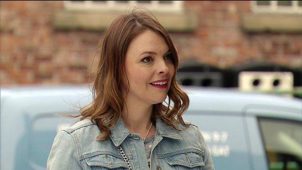 Kate as Tracy Barlow in Coronation Street
