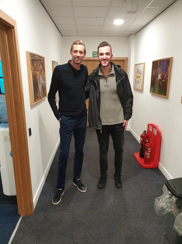 He's appeared on TV and radio - and can impressively even match Peter Crouch for height
