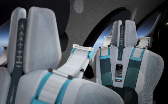 The cabin includes individually sized reclining seats with 'G-Force management' and automated mood lighting. (Credits: PA