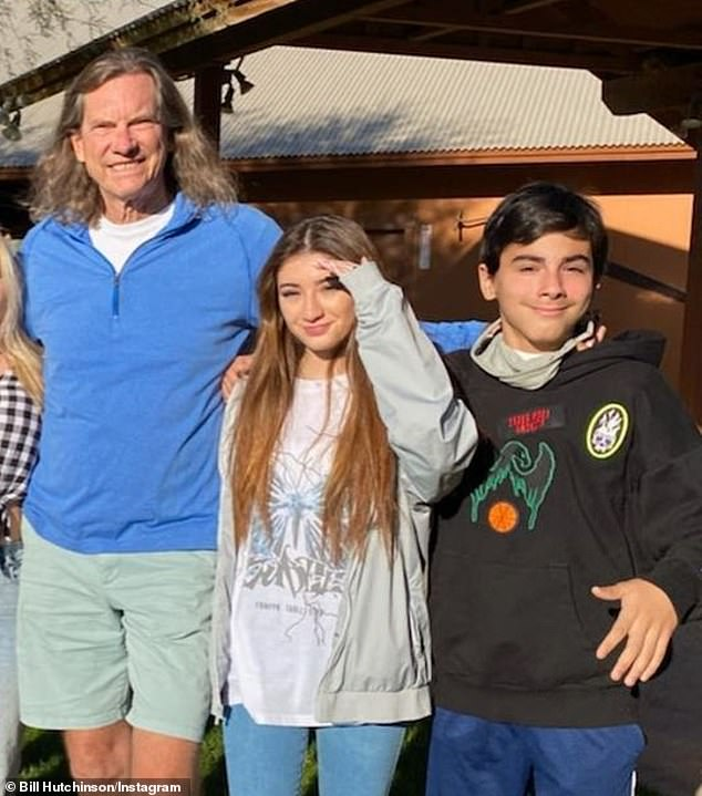 Yikes: Bill also has two younger children - Annebelle, 16; and King, 11 - from his second marriage to Kandis (pictured November 27)