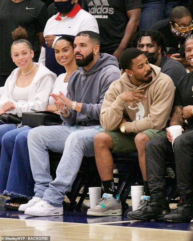 First meeting:Drake and Johanna were spotted together last month at the same high school varsity basketball match to watch the Sierra Canyon Trailblazers and its leading stars, Johanna's son Amari Bailey and Bronny James