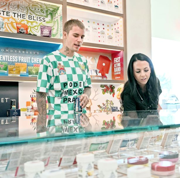 Justin Bieber cannabis products