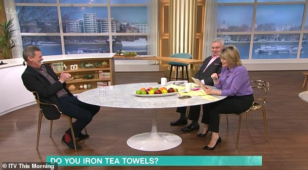All eyes on that barnet: Other topics, such as 'do you iron tea towels?' were also discussed but that was not the question on viewers' minds