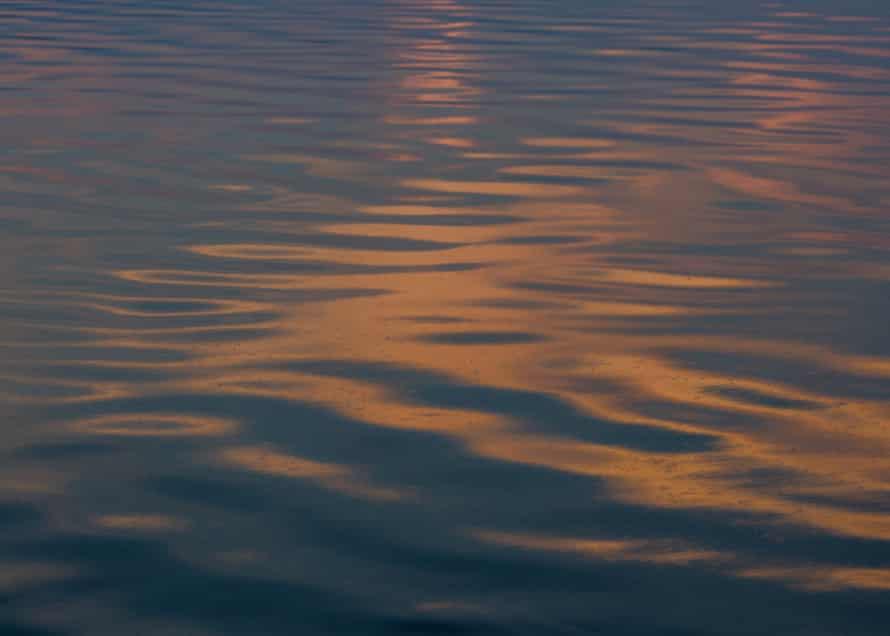 The sunset over the Salton Sea in Salton City.