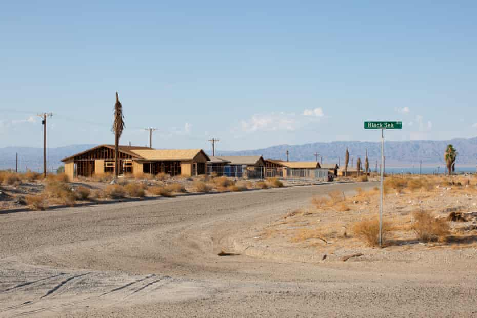 A strip of homes whose development has stalled in Salton City.