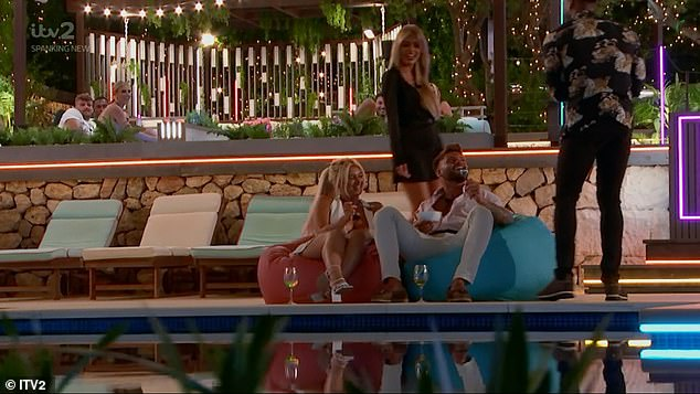 Lovely:Then with the help of the islanders, Jake later treated Liberty to her favourite meal of spaghetti bolognaise, while the rest of the housemates helped to provide a special touch to the romantic evening