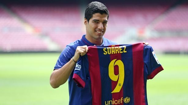 Luis Suarez joined Barcelona for £75m in 2014
