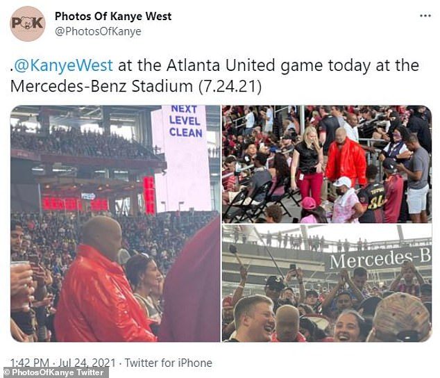 Spotted:News of his apparent residence at the Mercedes Benz Stadium comes after pictures began floating around Twitter of him in the stands on Saturday
