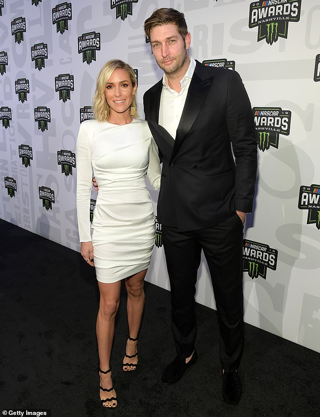 Contentious: Cutler and Cavallari are currently engaged in a legal battle concerning the earnings from her lifestyle brand, Uncommon James; they are pictured in 2019
