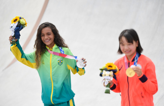 Rayssa Leal, who won silver, is now Brazil's youngest-ever Olympic medalist