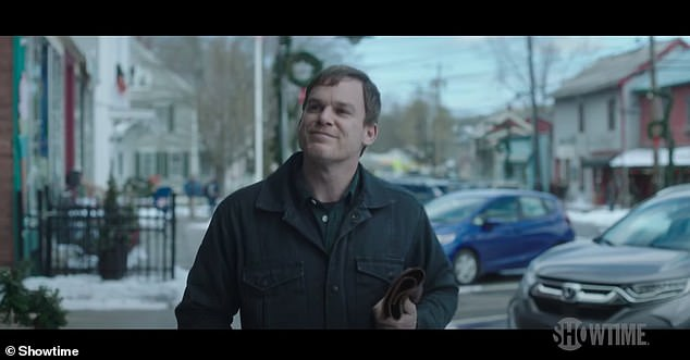 Dexter reborn: Michael C Hall reprises his role in the reboot, which sees Dexter hiding under the alias of Jimmy Lindsay in the fictional town of Iron Lake, New York