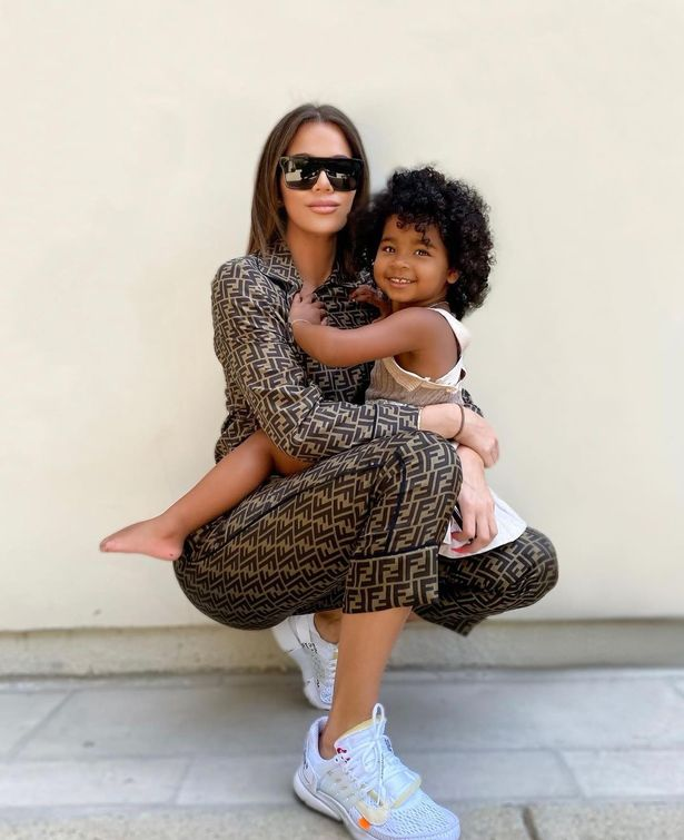 Khloe with three-year-old daughter True Thompson