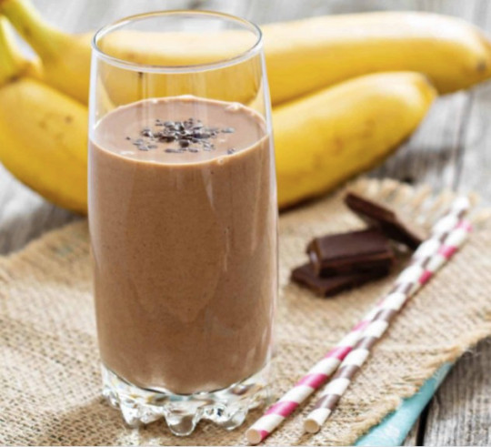 Nutty banana and cacao boost smoothies