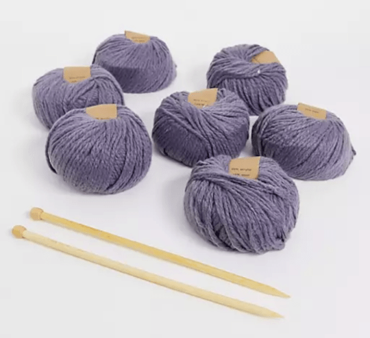 Calm club knit your own chunky knit blanket
