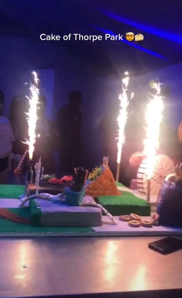 Stormzy's epic Thorpe Park cake
