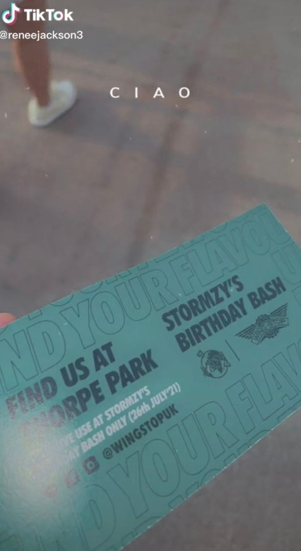 Guests had special tickets to the birthday party