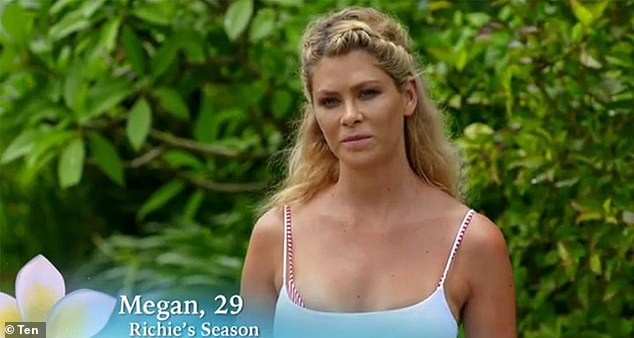 Flashback: Megan is pictured on Bachelor In Paradise's second season in 2019