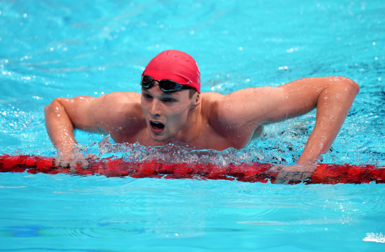 Great Britain's Duncan Scott in action in the Men's 200m Individual Medley semi finals during the Swimming at the Tokyo Aquatics Centre