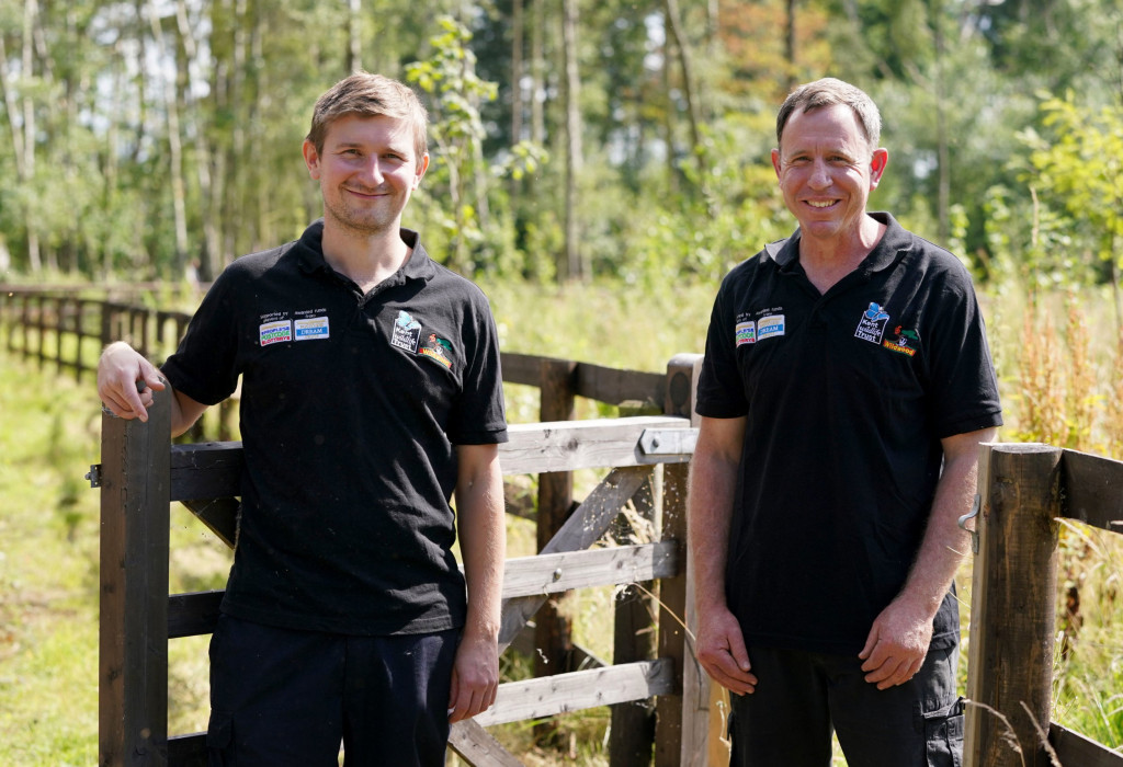 The newly appointed pair, working for British wildlife charities Kent Wildlife Trust and Wildwood Trust, have started work in one of the largest areas of ancient woodland in the country ahead of bison arriving into the area in 2022. (Credits: PA)