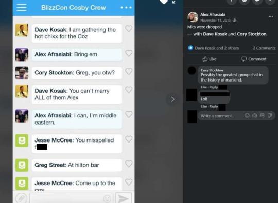 Kotaku screenshot of Blizzard group chat