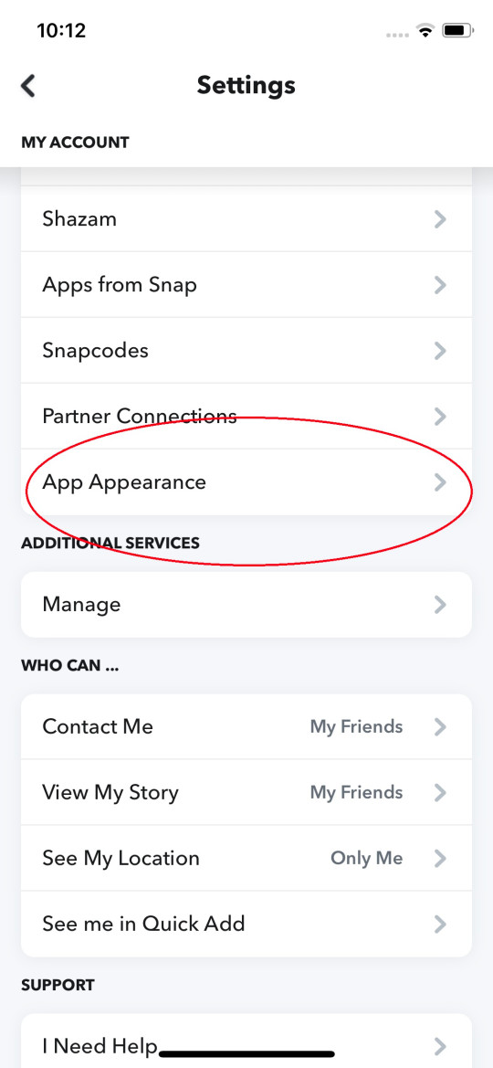 Find the option for 'App Appearance' to locate Dark Mode (Metro.co.uk)