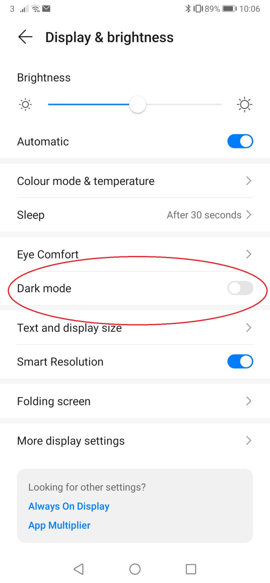 Many Android phones will have the option to switch the handset to Dark Mode in the settings menu (Metro.co.uk)
