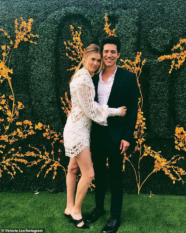 Long distance love: The 31-year-old said that the long distance has been 'tough but we have been apart for a while now.'She explained that her beau of seven years stayed put in New York because of his work as an art director. Pictured is Victoria with Matt