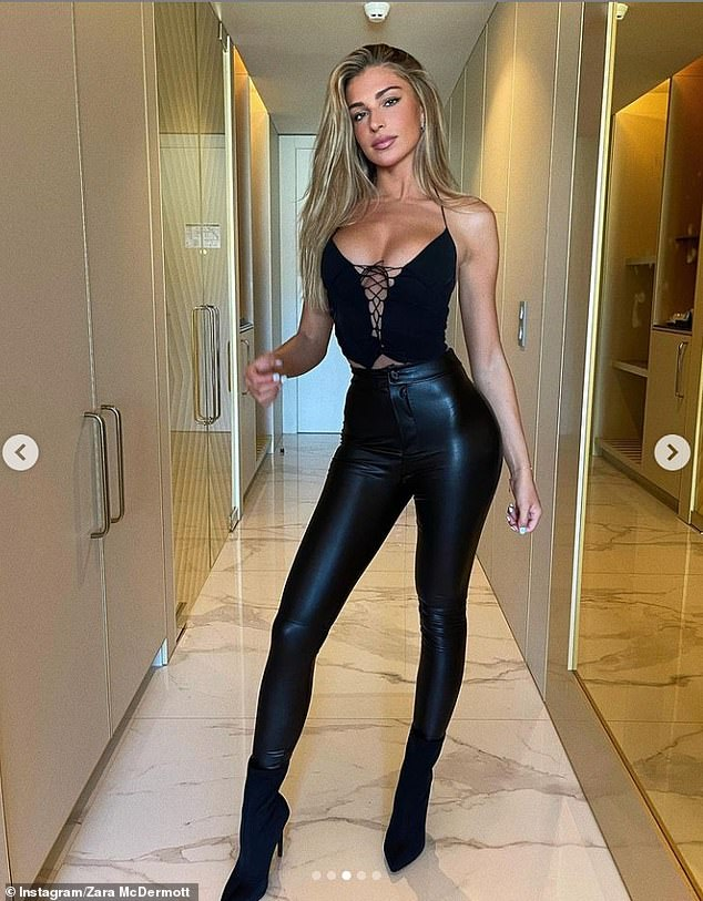 Wow:It comes after Zara slipped into another busty number on Wednesday