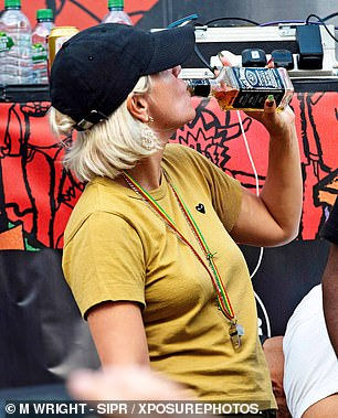 Just five years back, with her first marriage having collapsed, she was pictured eagerly swigging from a whiskey bottle and then from a can of cider at the Notting Hill Carnival