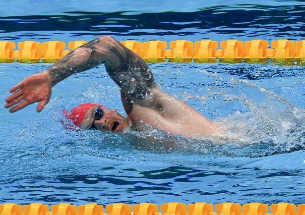 Adam Peaty in action at the Tokyo Aquatics centre