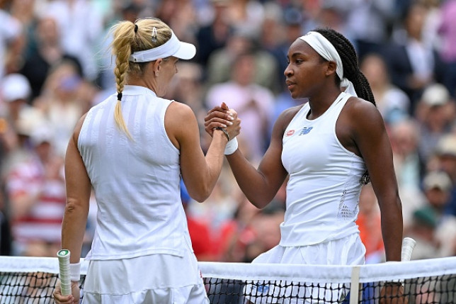 Angelique Kerber beat Coco Gauff in straight sets to reach the Wimbledon quarter-finals