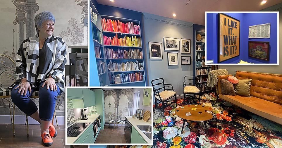 Artist transforms her Twickenham home into an eclectic modern art gallery