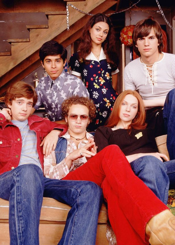 Ashton and Mila in That 70's Show