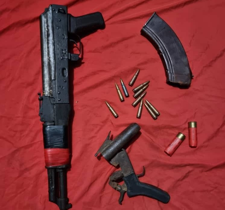 Arms recoverd from bandits in Imo