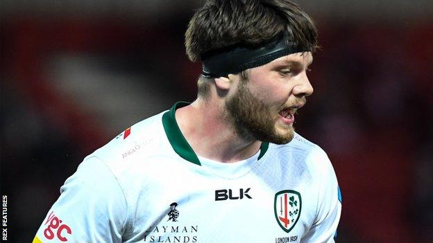 Ben Donnell in action for London Irish