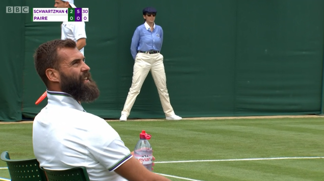 Benoit Paire was fined for a lack of effort in his Wimbledon first-round loss.