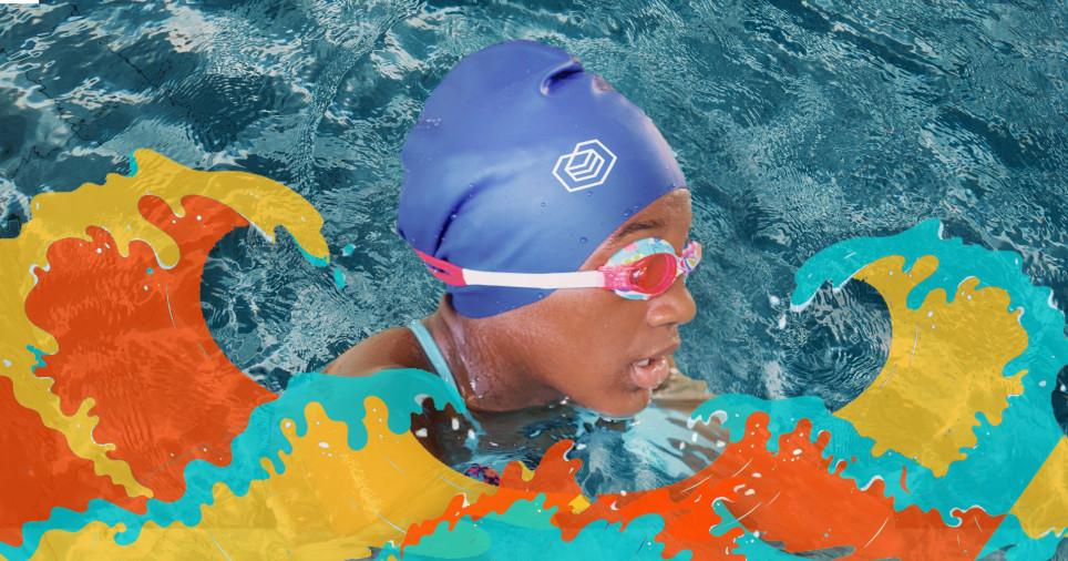 Black swimmer