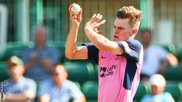 Blake Cullen in action for Middlesex