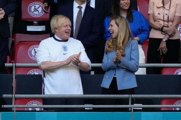 Prime Minister Boris Johnson and his wife, Carrie Johnson, were in attendance at Wembley